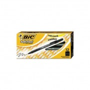 Soft Feel Stick Ballpoint Pen, Black Ink, 1mm, Medium, Dozen