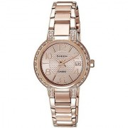 Casio Sheen Analog Rose Gold Dial Womens Watch - SHE-4804PG-9AUDR (SX130)
