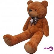 vidaXL XXL Mekani plišani medvjedić smeđi 160 cm