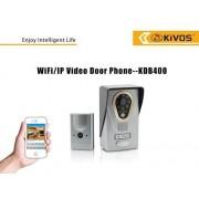 Interfon WiFi cu camera TCP/IP Kivos KDB400 cu deschidere de pe telefonul mobil