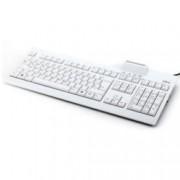 Клавиатура Fujitsu, с вграден четец за SMART карти, USB, бяла