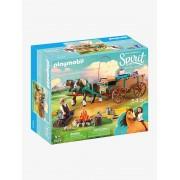 Playmobil 9477 Pai de Lucky e Carruagem, Playmobil castanho claro liso