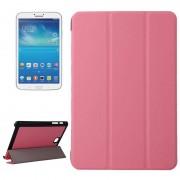 Samsung Galaxy Tab A 8.0 / T350 horizontaal PU leren Flip Hoesje met drievouws houder (roze)
