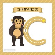 alphabet chart of c for chipanzee Alphabets and numbers Educational Poster for Kids Learning wall sticker paper poster