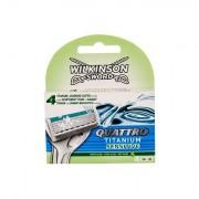 Wilkinson Sword Quattro Titanium Sensitive lama di ricambio 4 pz uomo