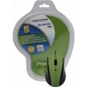 Mouse Esperanza EM125G Optic+Gel Mouse Pad Verde