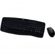 Kit Combo Teclado Mouse Inalambrico Usb Genius Kb-8000x - Negro