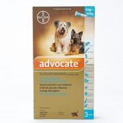 Advocate Avocat pour moyen chien 4-10kg (8,8-22lbs), Pack de 3