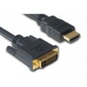 Кабел DeTech, от HDMI(м) към DVI(м), 1.8м, черен