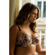 Ashley I bélés nélküli melltartó bézs-fekete 75D