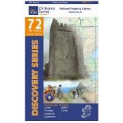 Topografische kaart - Wandelkaart 72 Discovery Kerry, Cork, Limerick | Ordnance Survey Ireland