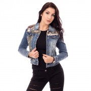 V&V Dámská jeans bunda s aplikací Army (XS) - V&V