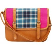 Desi Drama Queen Structured Slings-Checks School Bag(Multicolor, 5 inch)