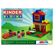GRAPPLE DEALS Kinder Blocks Garden House Set - Interlocking Architectural Set For Kids.(Multicolor)