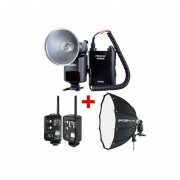 Kit Flash Godox WITSTRO AD 360 + SPEEDBOX 70 + Radios Cells II CX2 Nikon