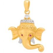 Dare by Voylla Dual Tone Lord Ganesha Face Pendant from Spiritual Saga