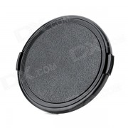 Tapa de lente de plastico universal de 77 mm para camara sony / pentax / fuji - negro