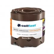 Cellfast Rasenkante perforiert braun 15cm hoch und 9m lang