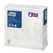 Szalvéta, 1/4 hajtogatott, 1 rétegű, 39x39 cm, Premium, TORK Textile Feel Elegance Dinner, fehér (KHH327)