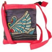 Indha Craft Women Blue Polyester Sling Bag