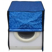 Glassiano blue colored waterproof and dustproof washing machine cover for front load IFB senorita-sx 6.5KG washing machine