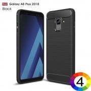 Samsung Galaxy A8 Plus (2018) Удароустойчив Carbon Fiber Калъф и Протектор