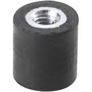 Amortizor cauciuc natural/oţel galvanizat, negru, D x H x d x l - 25 x 25 x M6 x 18 mm