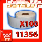 Etichette Compatibili con Dymo 11356 Bixolon Seiko 100 Rotoli