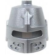 LEGO LEGO Castle Headgear Silver Great Helmet [Barrel Helm Loose]