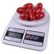 True Shop SF400 Electronic Digital 10 Kg Weight Scale LCD Kitchen Weight Scale Machine Measure for Measuring Fruits,Spice,Food,Vegetable Weighing Scale(White)