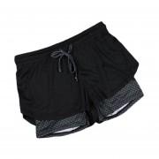 Outdoor Sports Summer Women Shorts Loose Side Split Yoga Gym Running Clothing Honeycomb Gray
