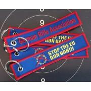 GRA Schlüsselanhänger GRA + Stop EU Gun Ban