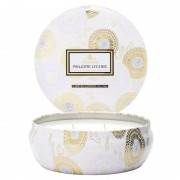 Voluspa Panjore Lychee 3 Wick Candle in Decorative Tin (40h)