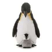 Aurora World Emperor Mama And Baby Penguin (12-inch)