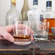 YourSurprise Whiskey glas graveren - 4 stuks