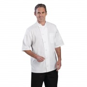Chef Works Valais Signature Series Unisex Chefs Jacket White S Size: S