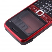 Full housing Cover (Front Cover + middelste Frame Bezel batterij Back Cover + toetsenbord) voor Nokia E63(Red)