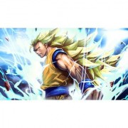 super saiyan 3 goku sticker poster|dragon ball z poster|anime poster|size:12x18 inch|multicolor
