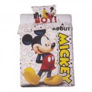 Спално бельо и калъфка Mickey Mouse бяло