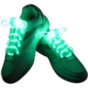 Trendzino ™ LED shoelaces Light Up Laces running belt for Night Activities Shoe Lace(Green Set of 2)
