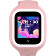 Ceas Inteligent pentru copii WONLEX KT21 4G Roz, cu GPS, apelare video, rezistent la apa, localizare WiFI si monitorizare spion