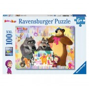 Puzzle Masha and The Bear, 100 piese