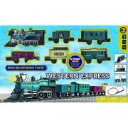 Vlak na baterije Western Express 5 vagona i lokomitiva 133 cm