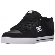 DC Men s Pure Skate Shoe Black Black White Black/Black/White 7.5 D(M) US