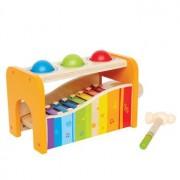 Дървен ксилофон с чукче и топчета