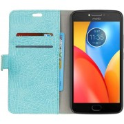 Motorola Moto E4 Plus Portemonnee Hoesje Blauw