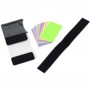 EW 12pzas iluminación Difusor Gel Tarjeta de color correcto para filtro emergente modelo Speedlite