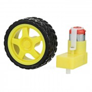 L Shape TT Motor de engranaje de eje simple para DIY - Negro + Amarillo