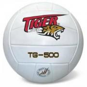 Волейболна топка, кожена, Бял, 342025