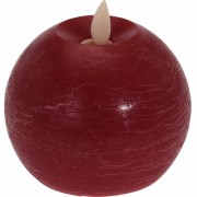 Lumânare LED Flamme, roşu, diam. 9,5 cm